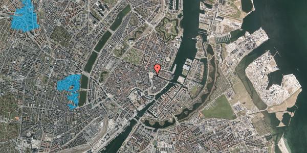 Oversvømmelsesrisiko fra vandløb på Kongens Nytorv 1, st. , 1050 København K