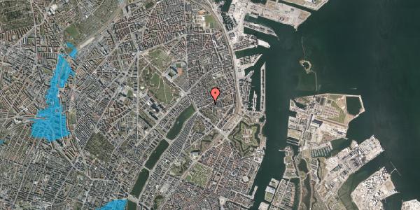 Oversvømmelsesrisiko fra vandløb på Classensgade 34B, 2100 København Ø