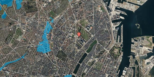 Oversvømmelsesrisiko fra vandløb på Edel Sauntes Allé 6, 2100 København Ø