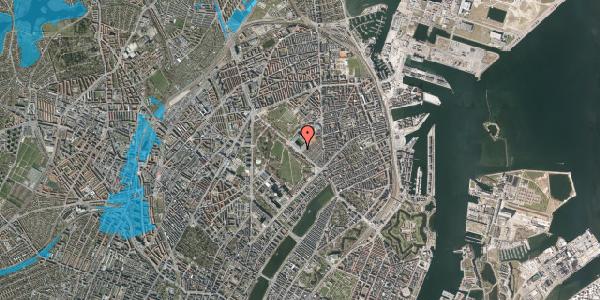 Oversvømmelsesrisiko fra vandløb på Øster Allé 42, 4. th, 2100 København Ø