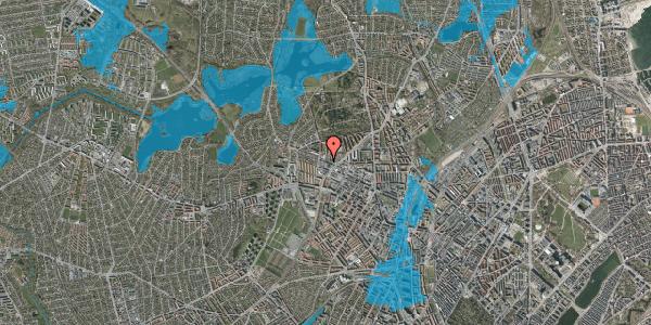 Oversvømmelsesrisiko fra vandløb på Rentemestervej 78, 3. 2, 2400 København NV