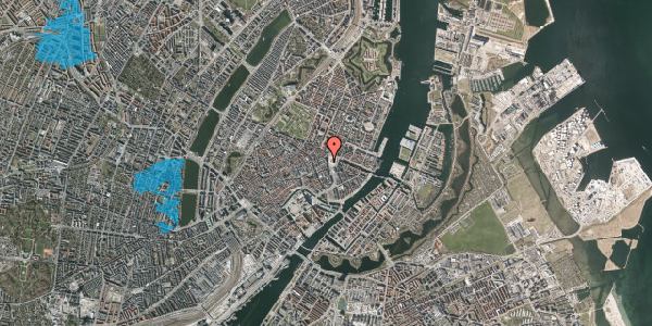Oversvømmelsesrisiko fra vandløb på Østergade 2A, kl. , 1100 København K