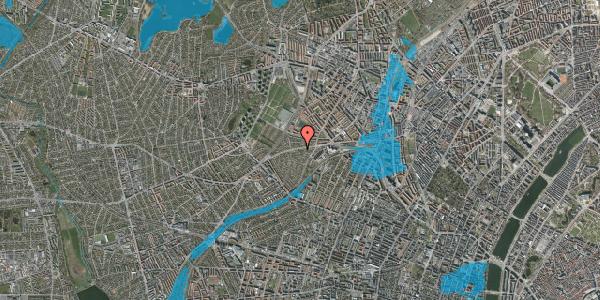 Oversvømmelsesrisiko fra vandløb på Hillerødgade 117B, 2400 København NV