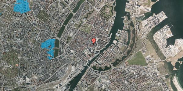 Oversvømmelsesrisiko fra vandløb på Nikolaj Plads 25B, 2. tv, 1067 København K