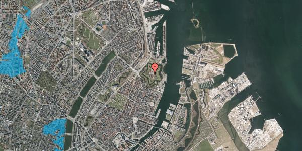 Oversvømmelsesrisiko fra vandløb på Kastellet 44, 2100 København Ø