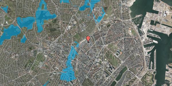 Oversvømmelsesrisiko fra vandløb på Vermundsgade 47A, 2100 København Ø