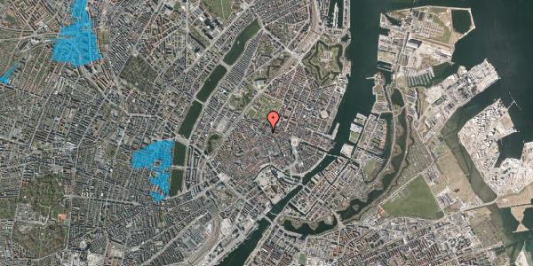 Oversvømmelsesrisiko fra vandløb på Vognmagergade 5, 2. , 1120 København K