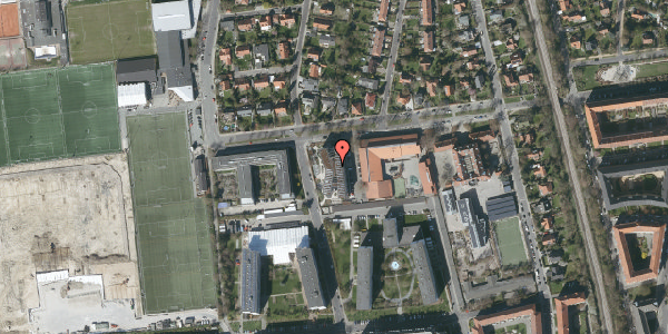 Oversvømmelsesrisiko fra vandløb på Troels-Lunds Vej 25B, 2000 Frederiksberg