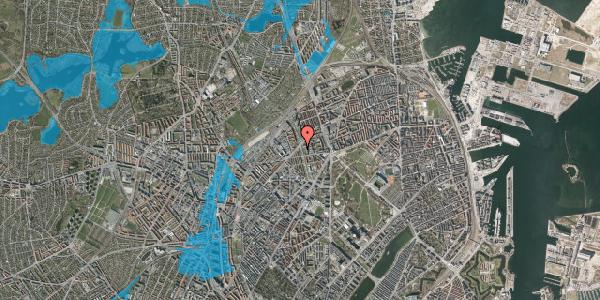 Oversvømmelsesrisiko fra vandløb på Lersø Parkallé 65, 2100 København Ø