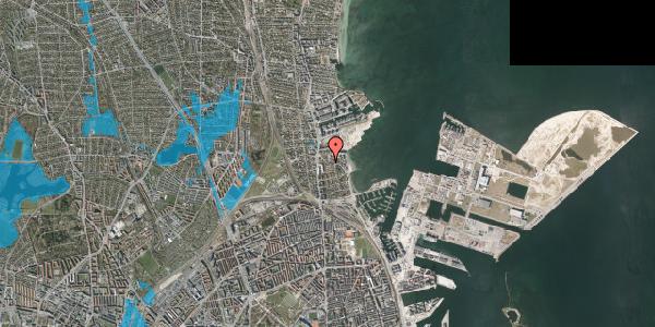 Oversvømmelsesrisiko fra vandløb på Strandøre 8A, st. , 2100 København Ø