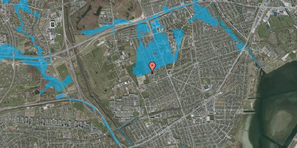Oversvømmelsesrisiko fra vandløb på Hf. Dahlia 79, 2650 Hvidovre