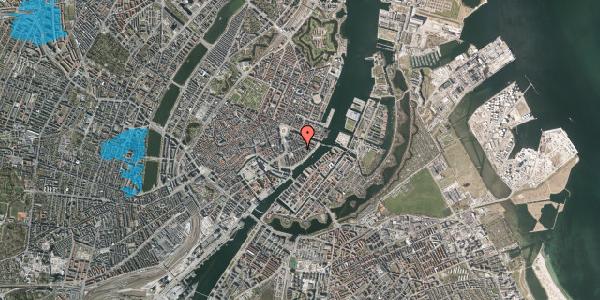 Oversvømmelsesrisiko fra vandløb på Holbergsgade 14, 3. th, 1057 København K