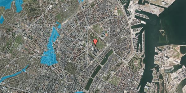 Oversvømmelsesrisiko fra vandløb på Henrik Harpestrengs Vej 17, 2100 København Ø