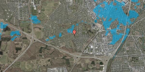 Oversvømmelsesrisiko fra vandløb på Vængedalen 1, 2600 Glostrup
