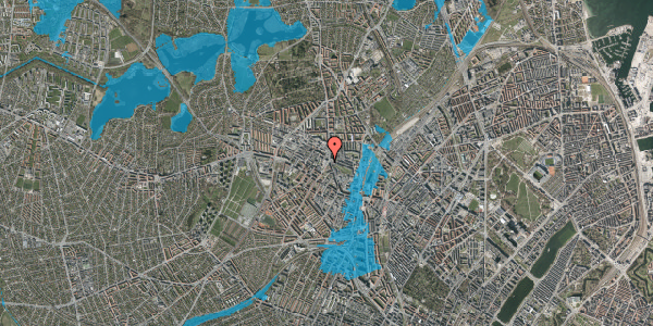 Oversvømmelsesrisiko fra vandløb på Glasvej 29, 4. tv, 2400 København NV