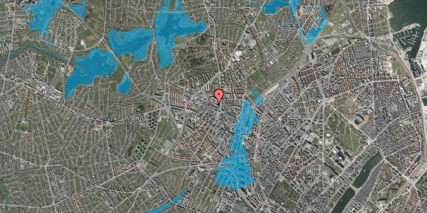 Oversvømmelsesrisiko fra vandløb på Rentemestervej 42B, 3. 3, 2400 København NV