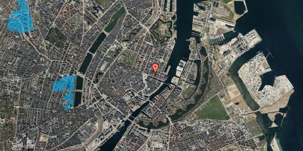 Oversvømmelsesrisiko fra vandløb på Nyhavn 11A, 3. mf, 1051 København K