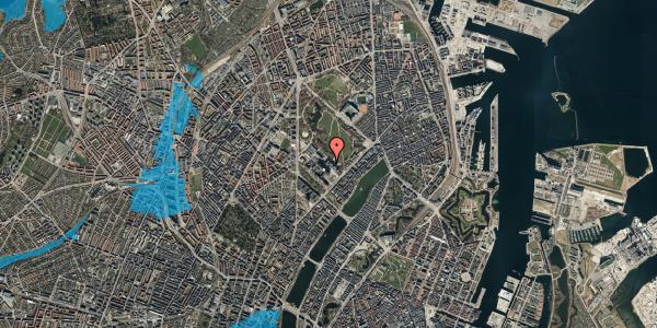 Oversvømmelsesrisiko fra vandløb på Blegdamsvej 13, 2100 København Ø
