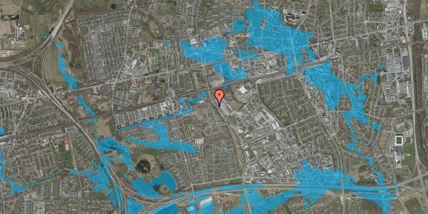 Oversvømmelsesrisiko fra vandløb på Firkløverparken 74, 2625 Vallensbæk
