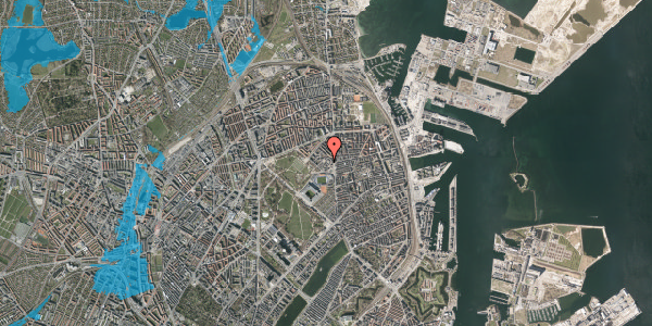 Oversvømmelsesrisiko fra vandløb på Østerfælled Torv 26, 2100 København Ø