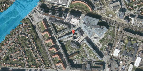 Oversvømmelsesrisiko fra vandløb på Preben Kaas' Vænge 1M, 2000 Frederiksberg