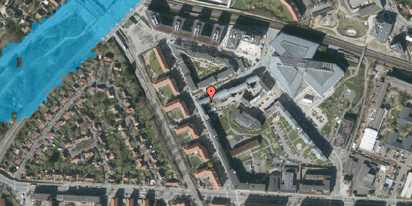 Oversvømmelsesrisiko fra vandløb på Preben Kaas' Vænge 5A, 2000 Frederiksberg