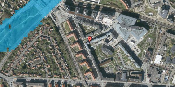 Oversvømmelsesrisiko fra vandløb på Preben Kaas' Vænge 5R, 1. 107, 2000 Frederiksberg