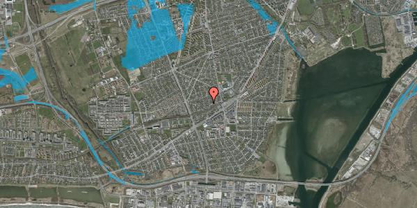 Oversvømmelsesrisiko fra vandløb på Aktæons Alle 36, 2650 Hvidovre