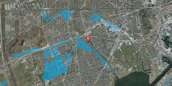 Oversvømmelsesrisiko fra vandløb på Birke Alle 12A, 2650 Hvidovre