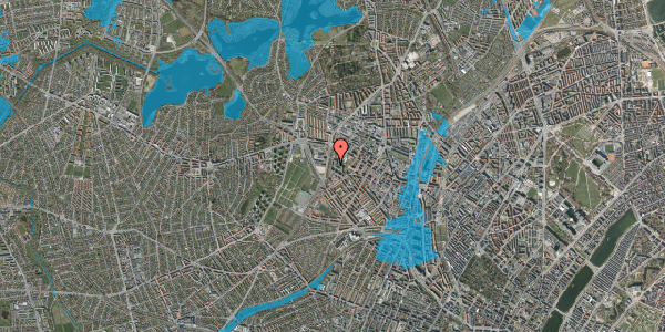Oversvømmelsesrisiko fra vandløb på Gråspurvevej 17A, st. , 2400 København NV