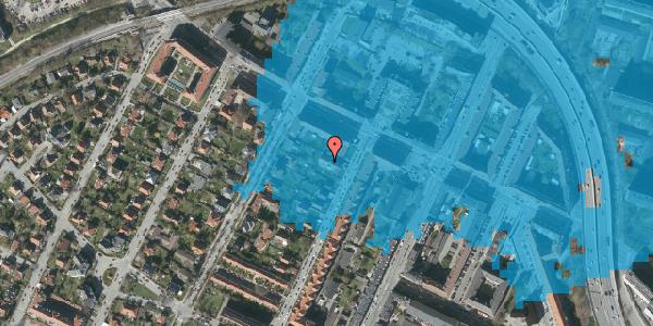 Oversvømmelsesrisiko fra vandløb på Duevej 111A, 2000 Frederiksberg