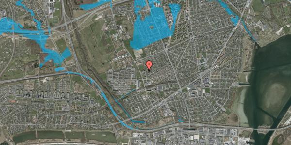 Oversvømmelsesrisiko fra vandløb på Mellemvangsvej 94, 2650 Hvidovre