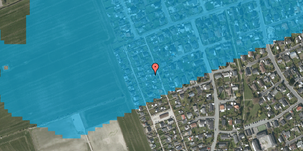 Oversvømmelsesrisiko fra vandløb på Hf. Dahlia 41, 2650 Hvidovre