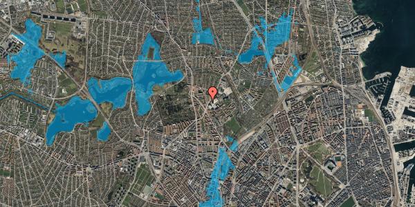 Oversvømmelsesrisiko fra vandløb på Peter Rørdams Vej 2B, 2400 København NV