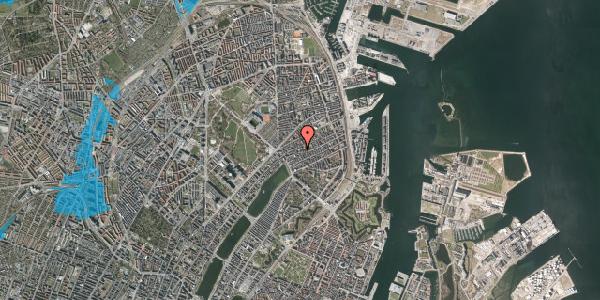 Oversvømmelsesrisiko fra vandløb på Rosenvængets Allé 20D, 4. , 2100 København Ø