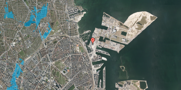 Oversvømmelsesrisiko fra vandløb på Sundkrogen 4, 4. , 2100 København Ø