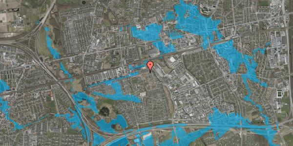 Oversvømmelsesrisiko fra vandløb på Kløvervænget 72, 2625 Vallensbæk