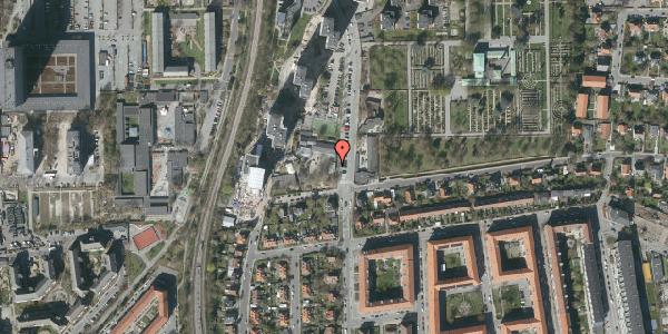 Oversvømmelsesrisiko fra vandløb på Borgmester Fischers Vej 14A, 2000 Frederiksberg