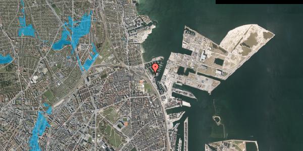 Oversvømmelsesrisiko fra vandløb på Strandvænget 57C, 1. , 2100 København Ø