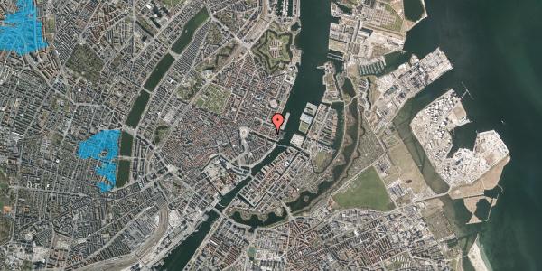 Oversvømmelsesrisiko fra vandløb på Nyhavn 53B, 1. th, 1051 København K