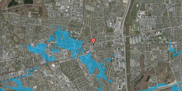 Oversvømmelsesrisiko fra vandløb på Glostrup Shoppingcenter 40, st. , 2600 Glostrup