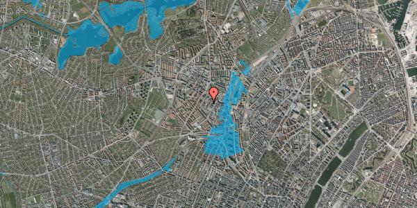 Oversvømmelsesrisiko fra vandløb på Tranevej 6A, 4. tv, 2400 København NV