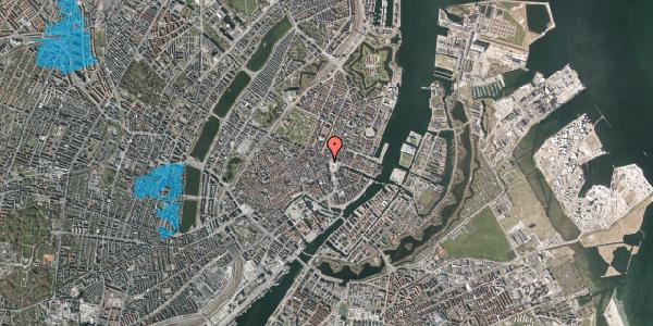 Oversvømmelsesrisiko fra vandløb på Kongens Nytorv 30, 3. , 1050 København K