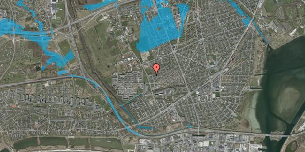 Oversvømmelsesrisiko fra vandløb på Mellemvangsvej 92, 2650 Hvidovre