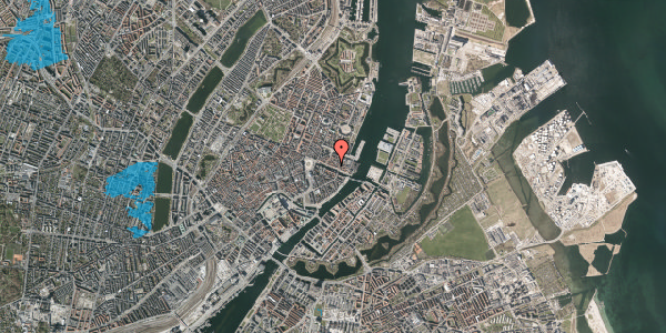 Oversvømmelsesrisiko fra vandløb på Nyhavn 37, kl. 1, 1051 København K