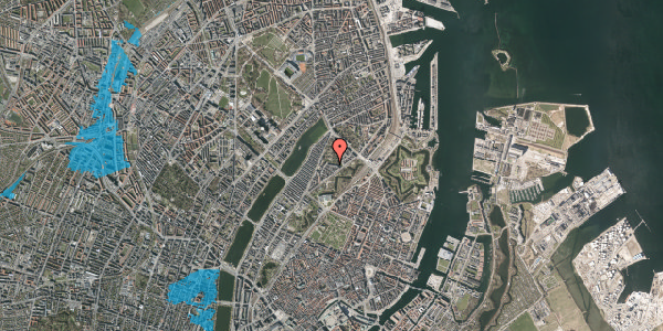 Oversvømmelsesrisiko fra vandløb på Upsalagade 20A, 2. tv, 2100 København Ø