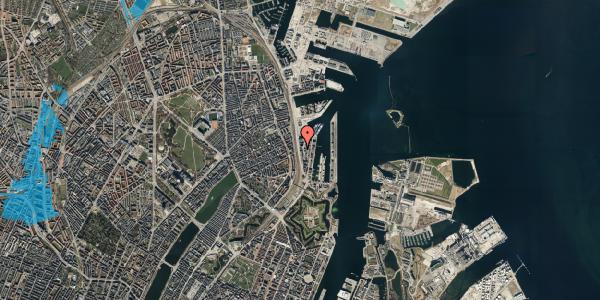 Oversvømmelsesrisiko fra vandløb på Amerika Plads 19A, 2. , 2100 København Ø