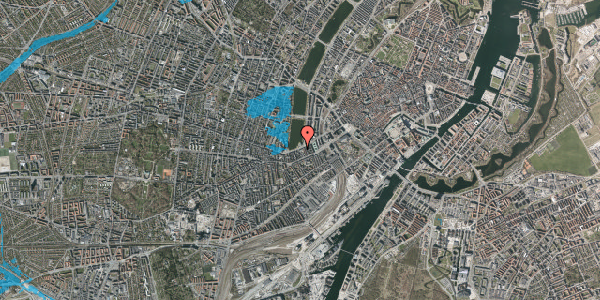Oversvømmelsesrisiko fra vandløb på Gammel Kongevej 13, 1610 København V