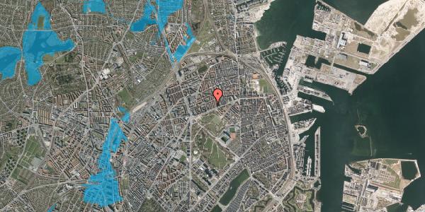 Oversvømmelsesrisiko fra vandløb på Langøgade 4B, 2100 København Ø