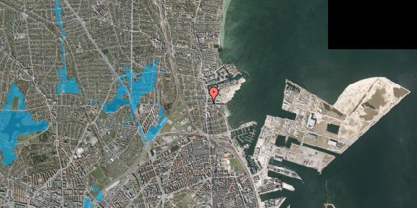 Oversvømmelsesrisiko fra vandløb på Strandvejen 32G, 2100 København Ø